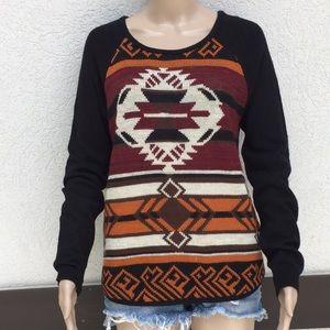 Miami medium sweater tribal print black